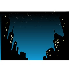 Night city skyline background vector