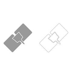 Drywall repair set icon vector