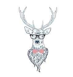 Hipster stag vector