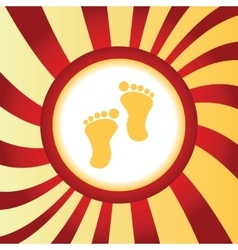 Footprint abstract icon vector