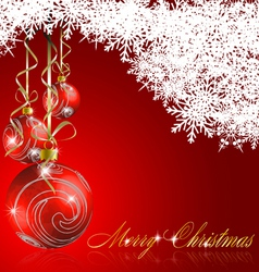 red merry christmas background vector image