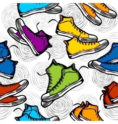 Sneakers Pattern vector image