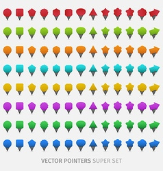 Webdesign pointers vector