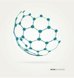 Abstract sphere hexagons template vector