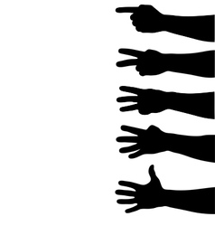 hands counting vector image
