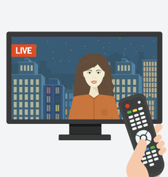 Live tv show vector