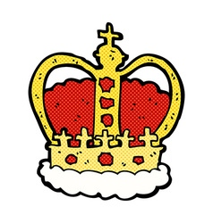 Comic cartoon royal crown vector