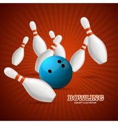 Bowling concept vector