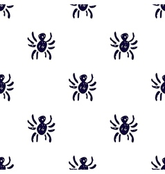 Seamless pattern with spiders on white backdrop vector