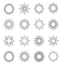 Sacred geometry symbols and elements vector