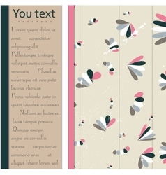 Abstract pastel card in pink brown and blue vector