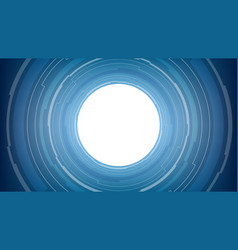 abstract white circle technology on blue vector image vector image