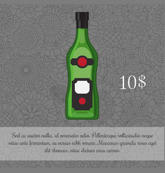 Alcoholic beverage vermouth card template vector