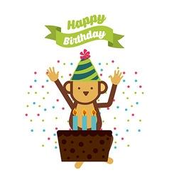 birthday invitation vector image