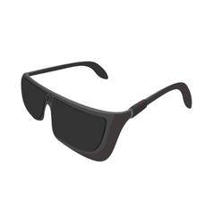 Black sunglasses cartoon icon vector