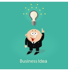 businessman and idea vector image vector image