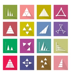 Collection of 16 Business Graph Icons Banner vector image vector image
