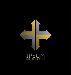 cross logo icon vector image