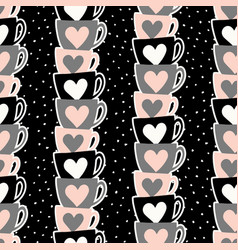 Cute cups pattern vector