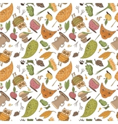 Fall sketch pattern vector