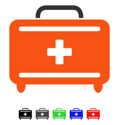 First aid toolkit flat icon vector