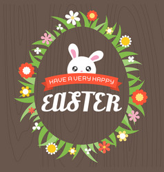 have a very happy easter headline vector image