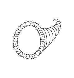 Horn of plenty vector image