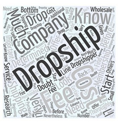 How much does drop shipping cost word cloud vector