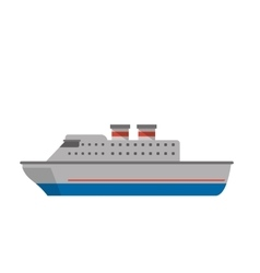 Isolated cruise ship design vector
