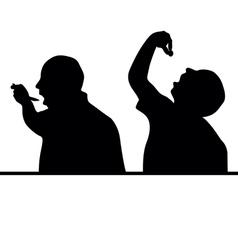 Man eat silhouette vector