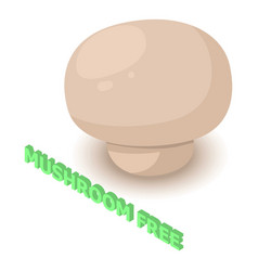 Mushroom allergen free icon isometric style vector