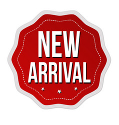 new arrival label or sticker vector image