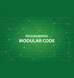 Programming modular code concept vector