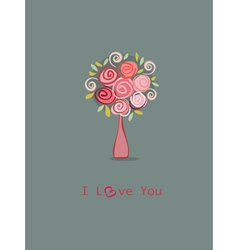 Roses love you vector image vector image