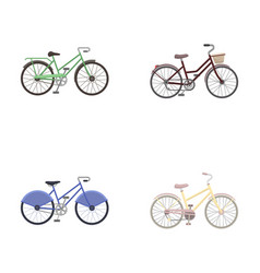 Sports bike and other typesdifferent bicycles set vector