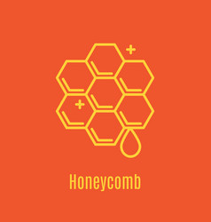 Thin line icon honeycomb vector
