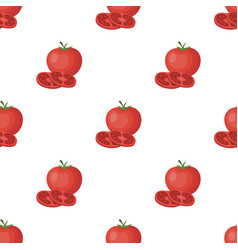 Tomato with a leafburgers and ingredients single vector