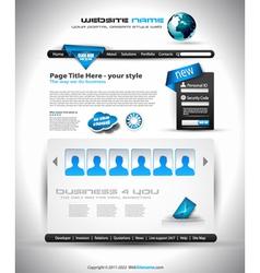 website document vector image vector image