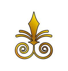 decoration ornament swirl golden vector image