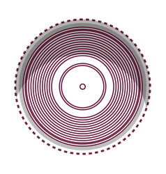 Long play disk icon vector
