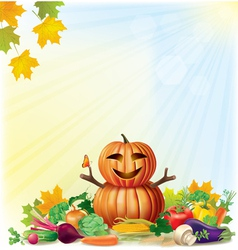 Harvest autumn background vector
