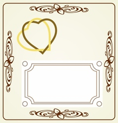 Wedding card vintage desing vector image