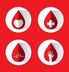 Blood drops set vector