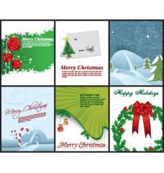 christmas flyers vector image