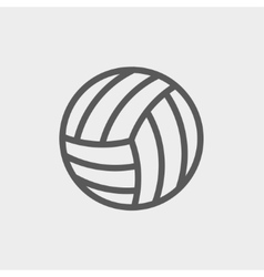 Volleyball ball thin line icon vector