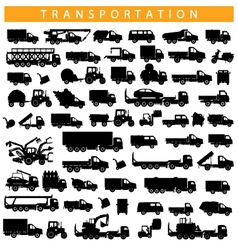 Transportation pictogram vector