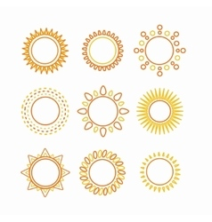 Sun set outline icon vector