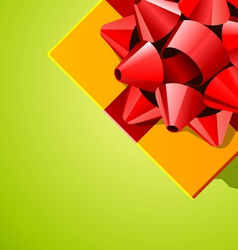 Ribbon and bow present vector