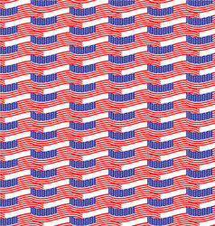 Seamless pattern usa flag vector