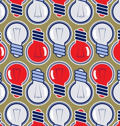bulb lamp background pattern vector image